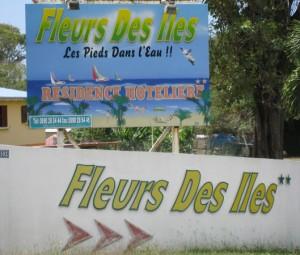 L'entrée de la résidence Fleurs des Iles